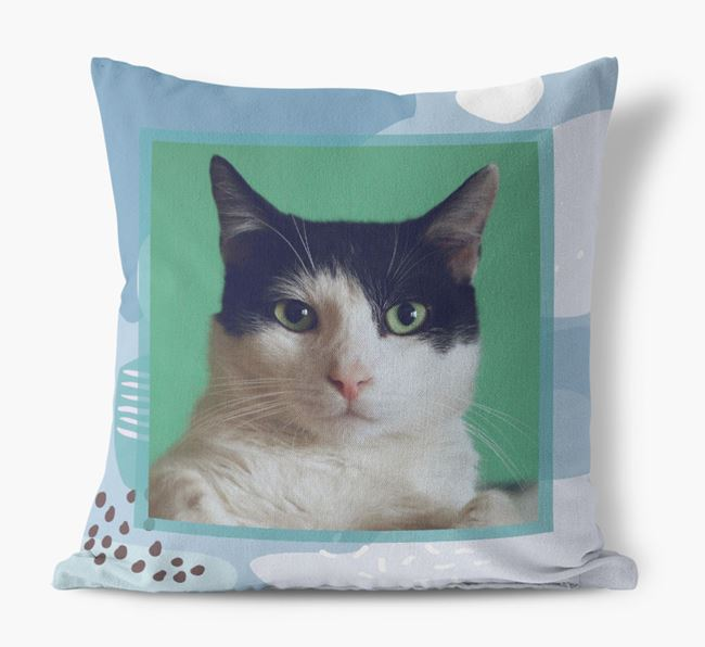'Abstract Pattern' - Personalized Cat Photo Upload Pillow