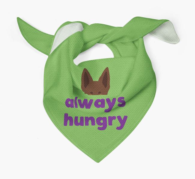 'Always Hungry' - Personalised Australian Kelpie Bandana