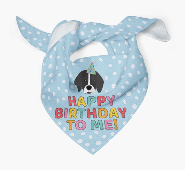 'Happy Birthday To Me' - Personalised Bassugg Bandana