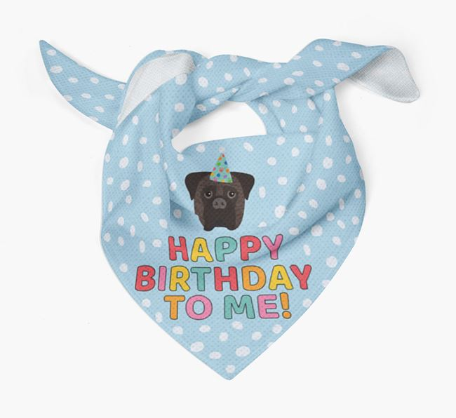 'Happy Birthday To Me' - Personalised Bullmastiff Bandana