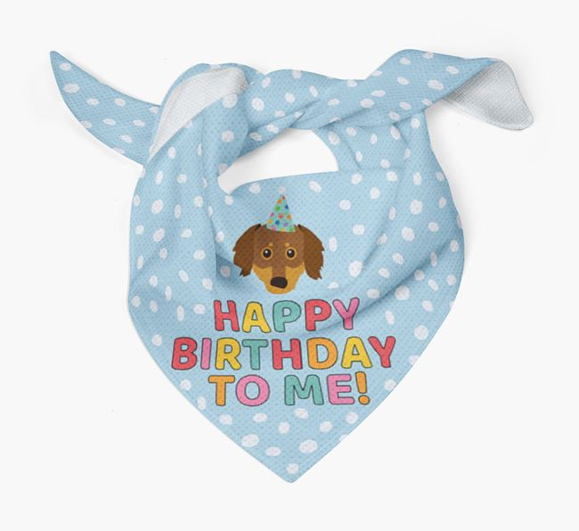 'Happy Birthday To Me' - Personalised Chiweenie Bandana