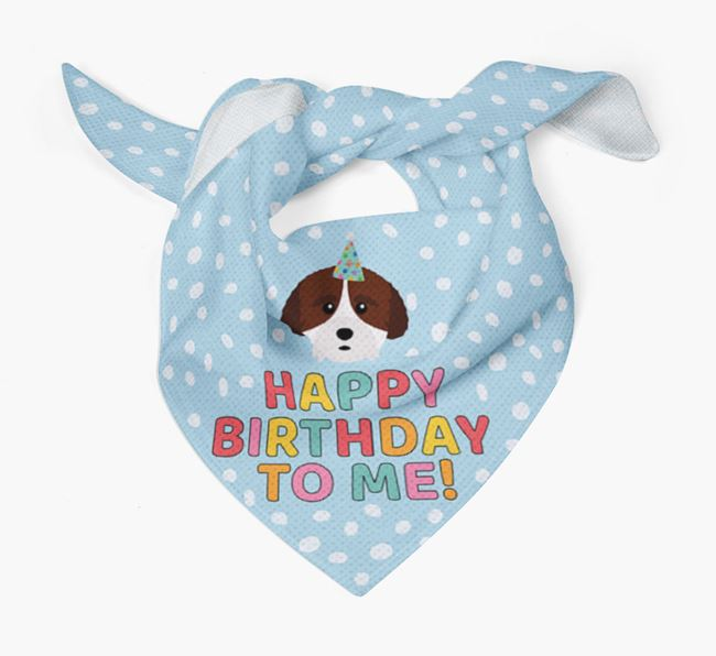 'Happy Birthday To Me' - Personalised Cockachon Bandana
