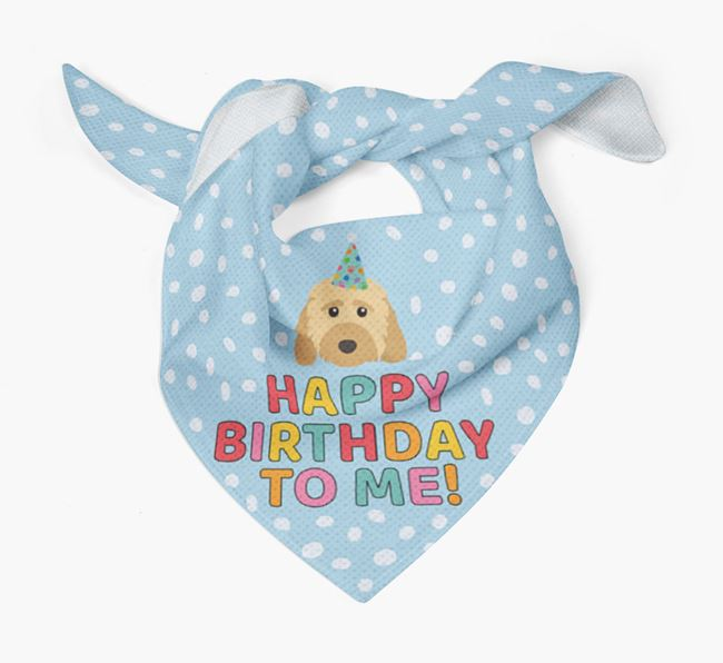 'Happy Birthday To Me' - Personalised Dog Bandana