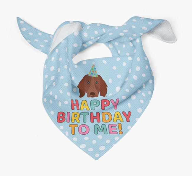 'Happy Birthday To Me' - Personalised German Longhaired Pointer Bandana