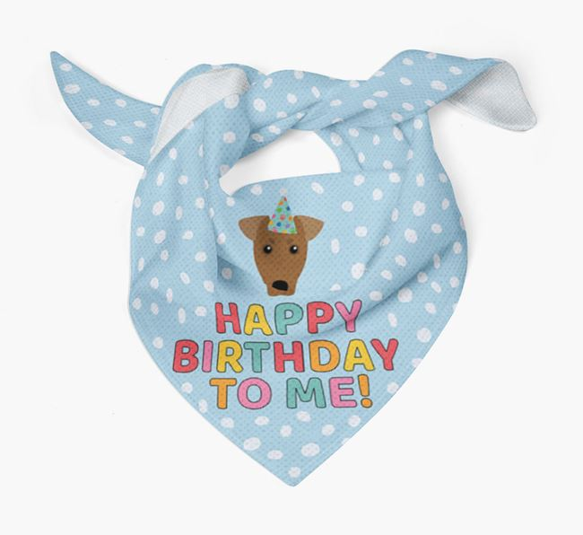 'Happy Birthday To Me' - Personalised German Pinscher Bandana