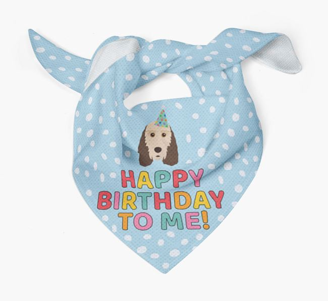 'Happy Birthday To Me' - Personalised Grand Basset Griffon Vendeen Bandana