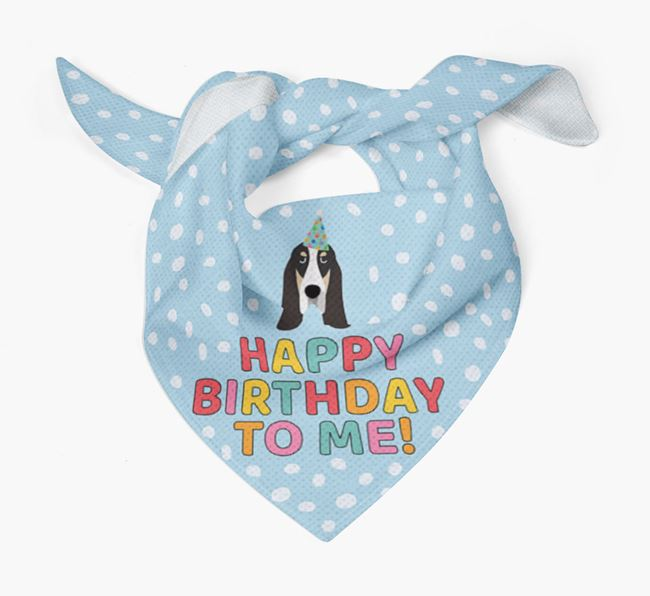 'Happy Birthday To Me' - Personalised Grand Bleu De Gascogne Bandana