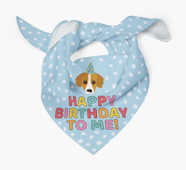 'Happy Birthday To Me' - Personalised Kokoni Bandana