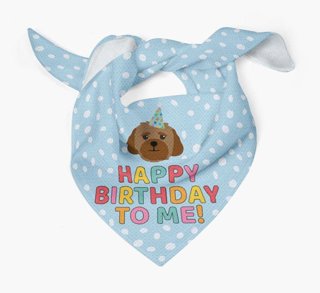 'Happy Birthday To Me' - Personalised Lhasapoo Bandana