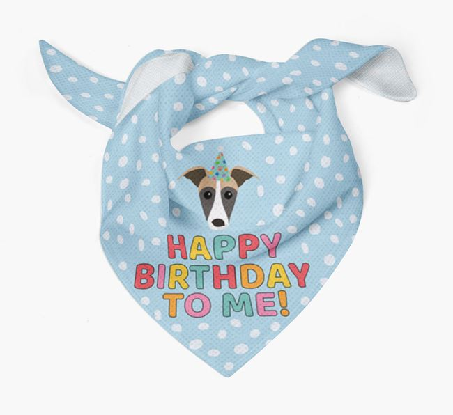 'Happy Birthday To Me' - Personalised Lurcher Bandana