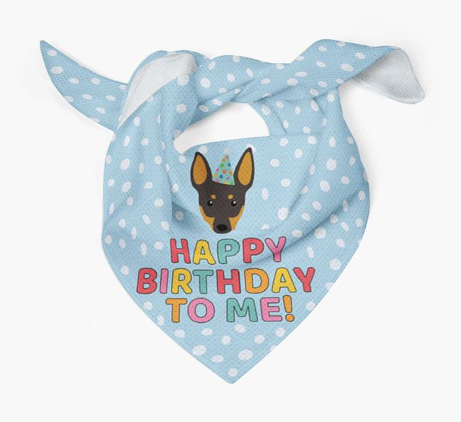 'Happy Birthday To Me' - Personalised Manchester Terrier Bandana