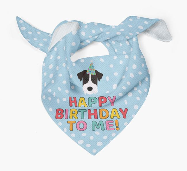 'Happy Birthday To Me' - Personalized Patterdale Terrier Bandana