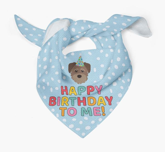'Happy Birthday To Me' - Personalized Schnoodle Bandana