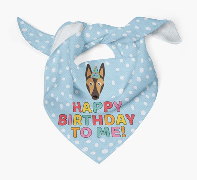 'Happy Birthday To Me' - Personalised Smooth Collie Bandana