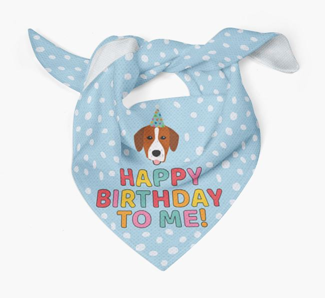 'Happy Birthday To Me' - Personalised Springador Bandana
