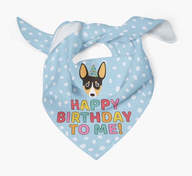 'Happy Birthday To Me' - Personalised Toy Fox Terrier Bandana