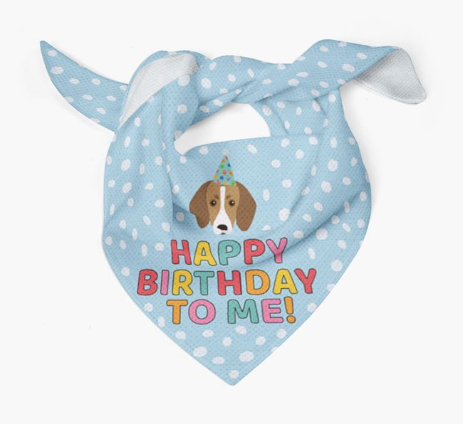 'Happy Birthday To Me' - Personalised Trailhound Bandana