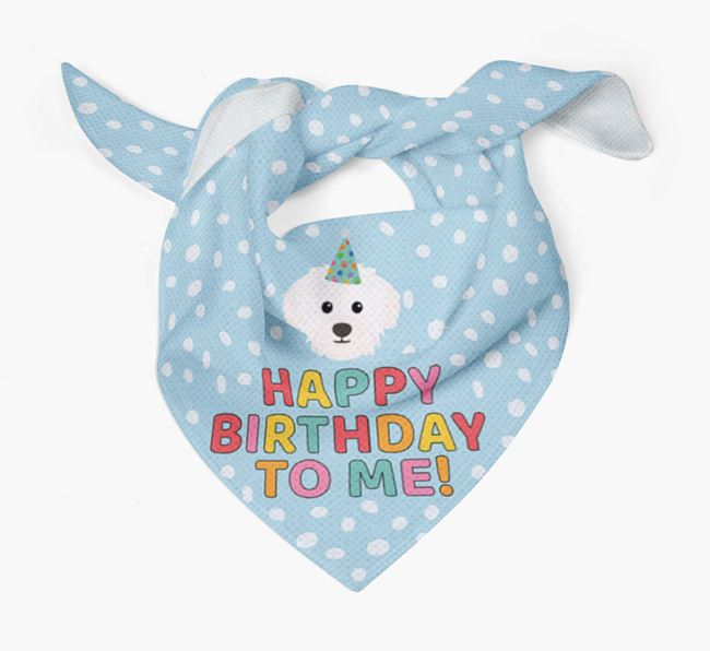 'Happy Birthday To Me' - Personalised Westiepoo Bandana