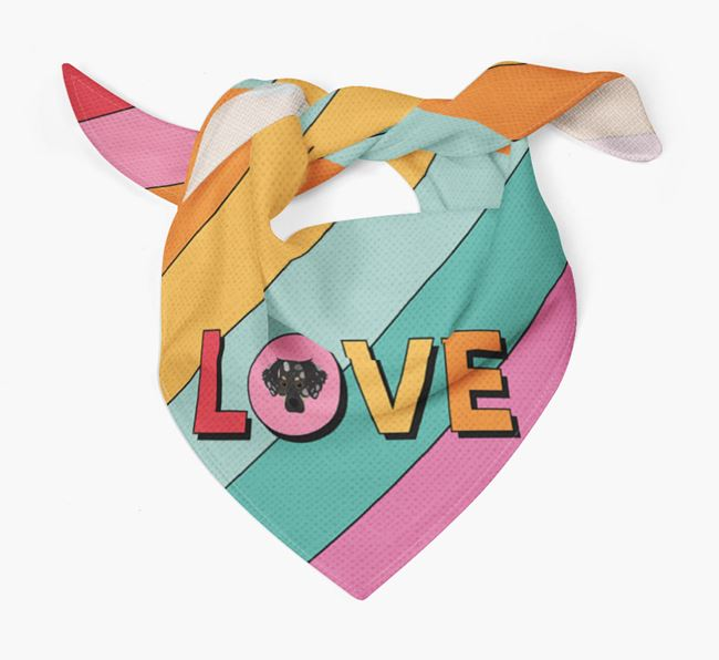 'Love' - Personalised Dameranian Bandana