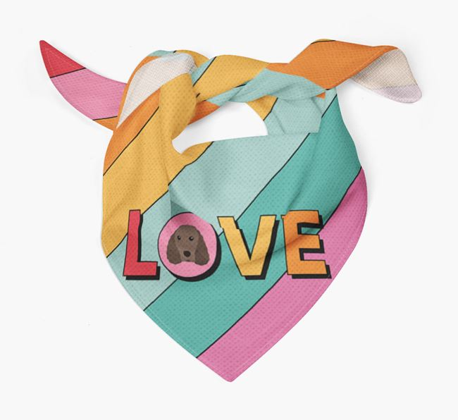 'Love' - Personalised Irish Water Spaniel Bandana