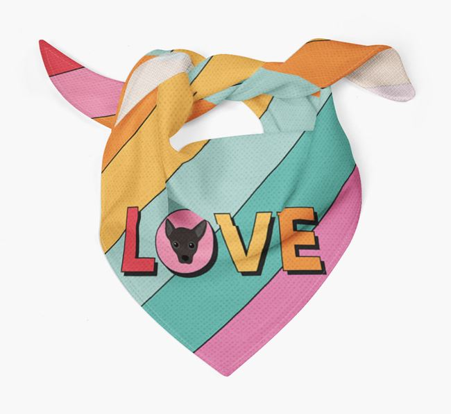 'Love' - Personalised Jackahuahua Bandana