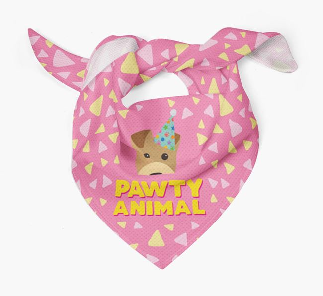 'Pawty Animal' - Personalised Airedale Terrier Bandana