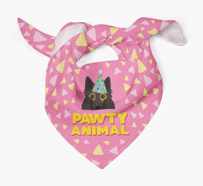 'Pawty Animal' - Personalised Belgian Tervuren Bandana