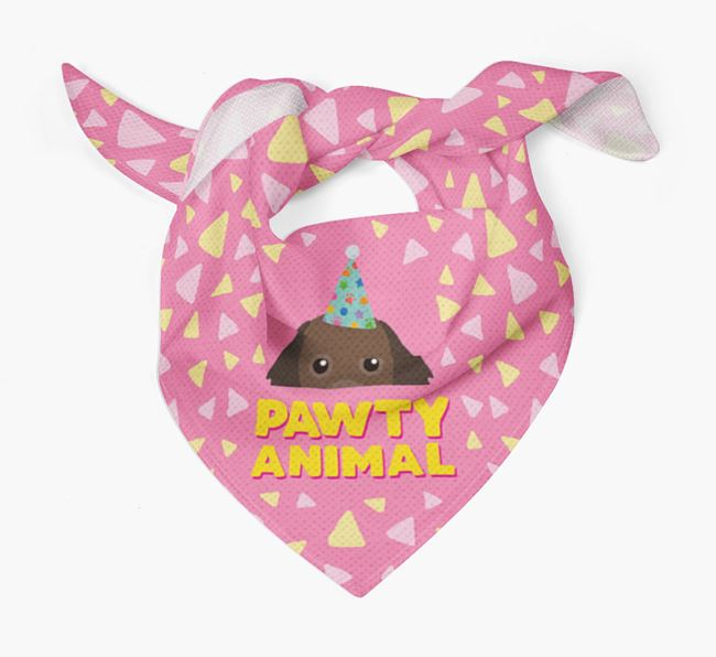 'Pawty Animal' - Personalised Cavapom Bandana