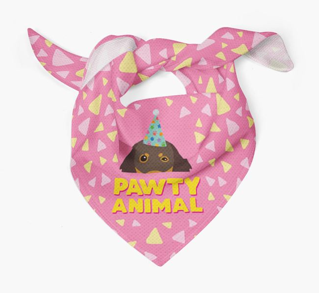 'Pawty Animal' - Personalised Gordon Setter Bandana