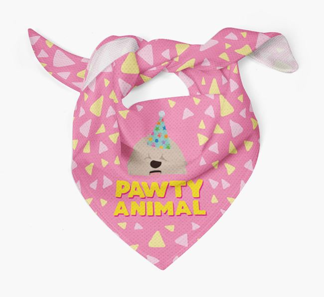 'Pawty Animal' - Personalised Hungarian Puli Bandana