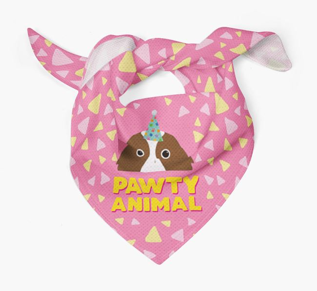 'Pawty Animal' - Personalised Irish Red & White Setter Bandana