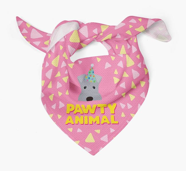 'Pawty Animal' - Personalised Kerry Blue Terrier Bandana