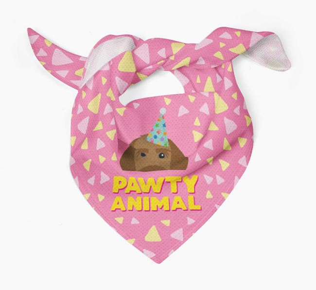 'Pawty Animal' - Personalised Korthals Griffon Bandana