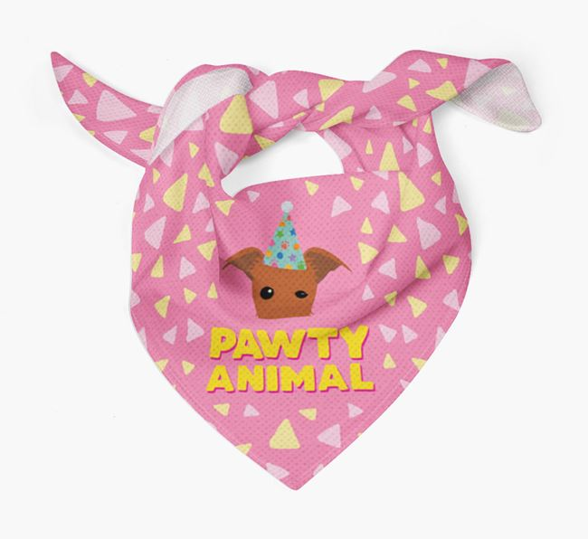 'Pawty Animal' - Personalised Lurcher Bandana