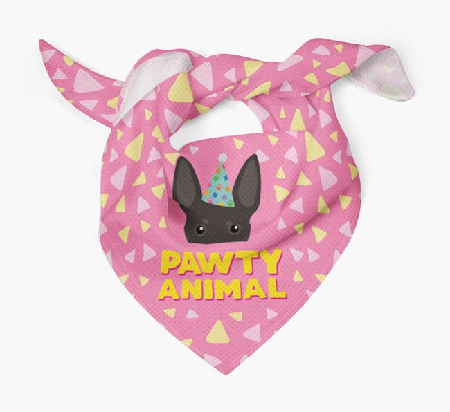 'Pawty Animal' - Personalised Manchester Terrier Bandana