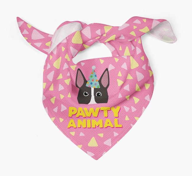 'Pawty Animal' - Personalised Miniature Bull Terrier Bandana