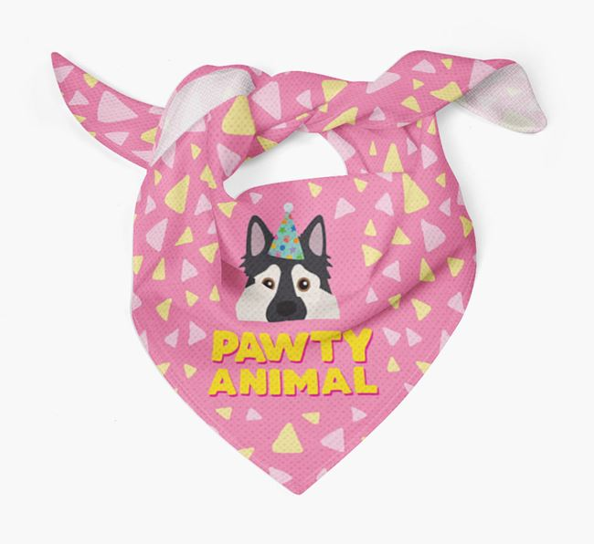 'Pawty Animal' - Personalised Northern Inuit Bandana