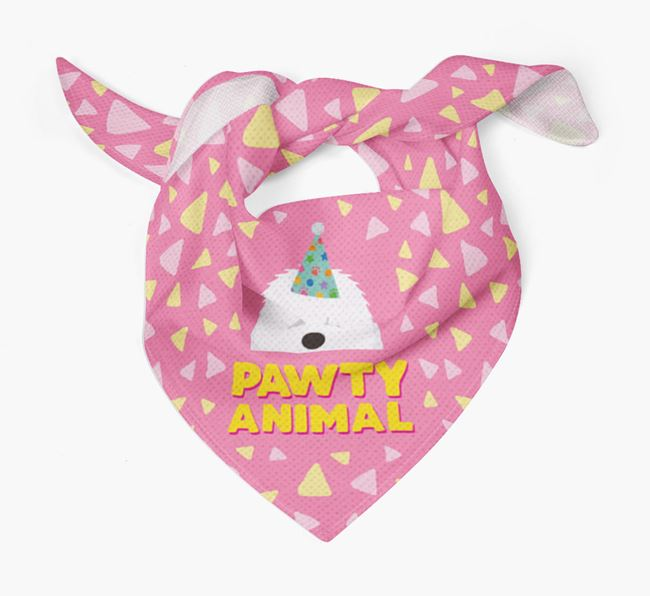 'Pawty Animal' - Personalised Old English Sheepdog Bandana