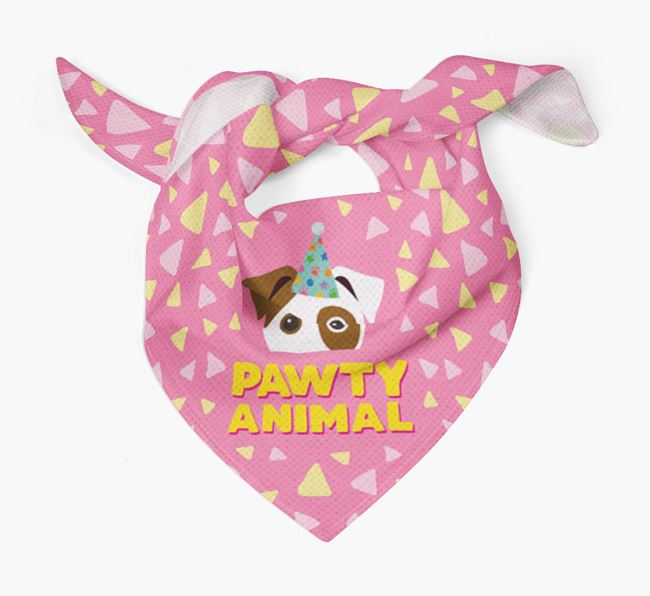 'Pawty Animal' - Personalised Parson Russell Terrier Bandana