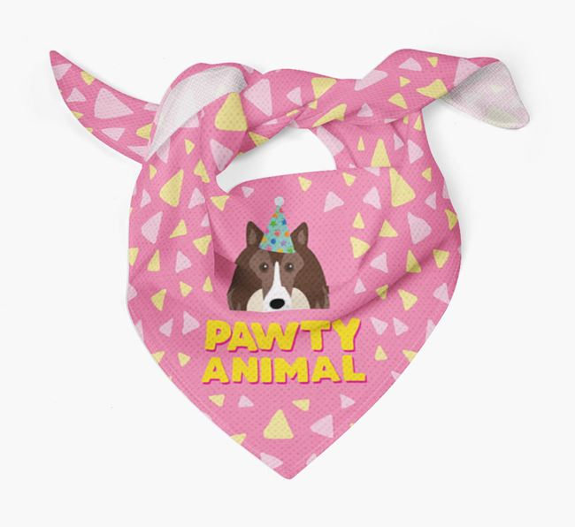 'Pawty Animal' - Personalised Rough Collie Bandana