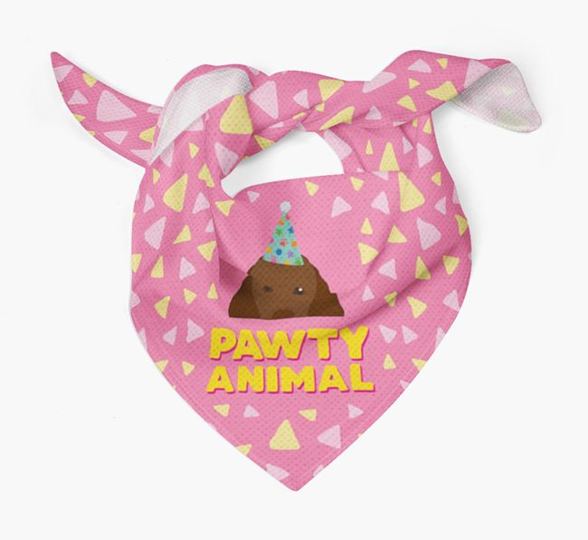 'Pawty Animal' - Personalised Sussex Spaniel Bandana
