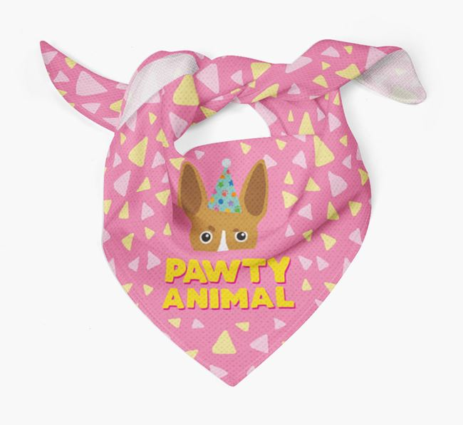 'Pawty Animal' - Personalised Toy Fox Terrier Bandana
