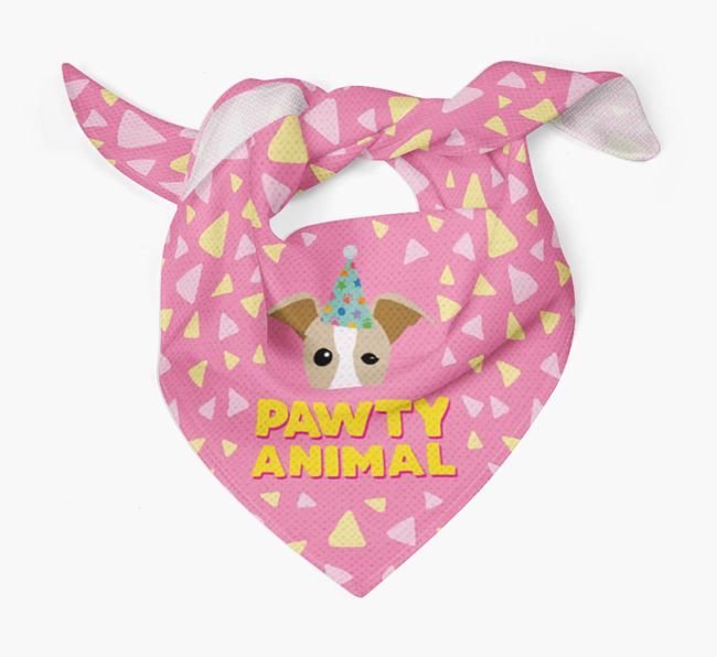 'Pawty Animal' - Personalised Whippet Bandana
