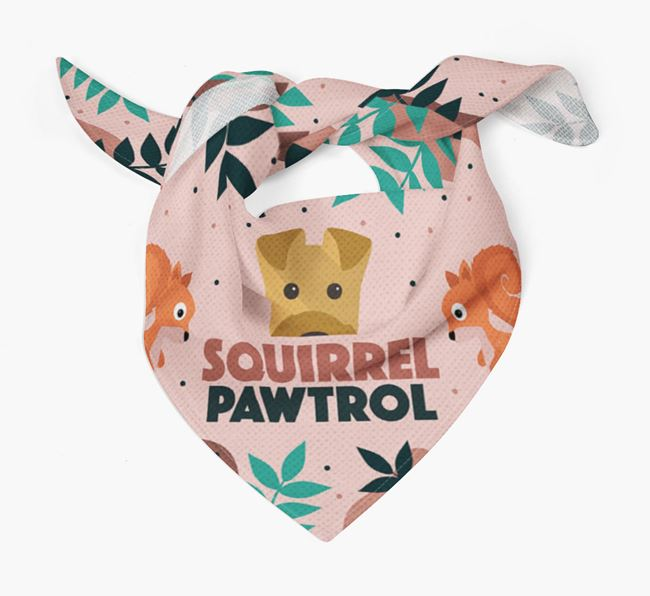 'Squirrel Pawtrol' - Personalised Airedale Terrier Bandana