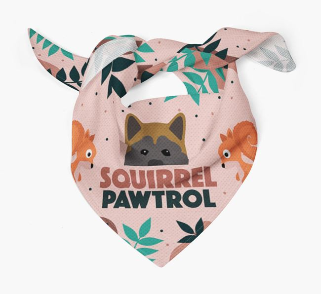 'Squirrel Pawtrol' - Personalised Akita Bandana