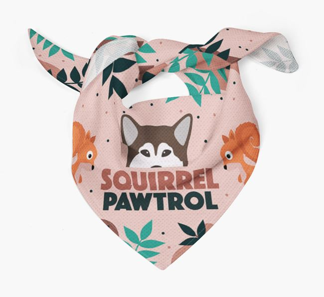 'Squirrel Pawtrol' - Personalised Alaskan Malamute Bandana