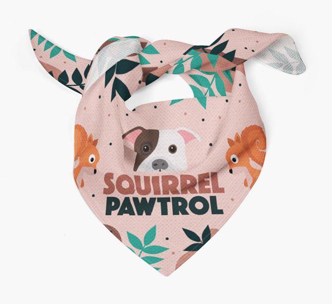 'Squirrel Pawtrol' - Personalised American Bulldog Bandana