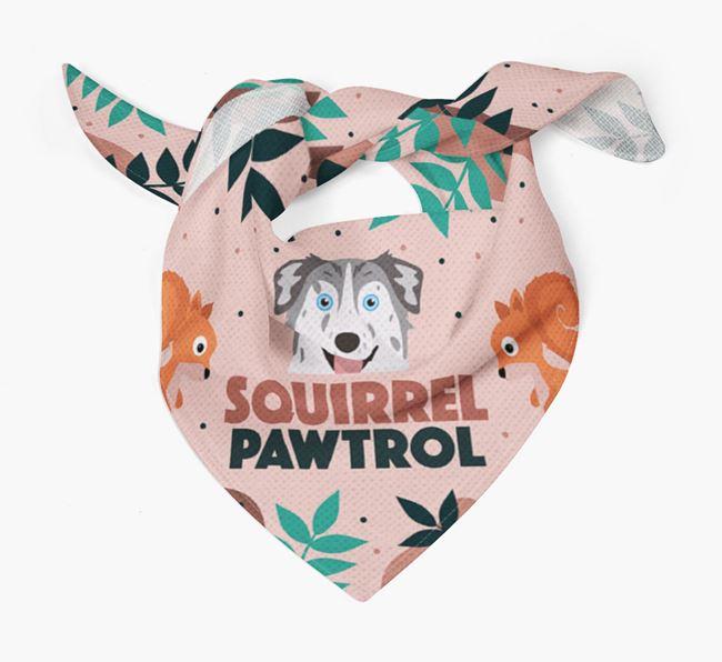 'Squirrel Pawtrol' - Personalized Australian Shepherd Bandana