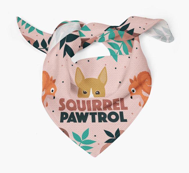 'Squirrel Pawtrol' - Personalised Basenji Bandana