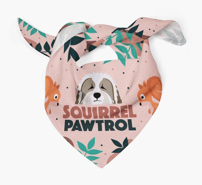 'Squirrel Pawtrol' - Personalised Bearded Collie Bandana